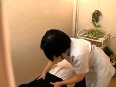 Akane Yoshinaga Asian teen in school uniform rides cock