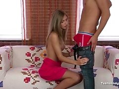 Sexy Teen Got Her Tits Cum Covered