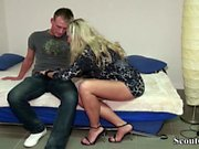 German MILF Seduce Young Boy to Fuck with her