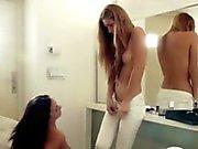 Teen lesbian beauties eating pussies under sweet panties