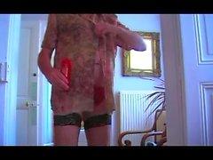 girl teen 18 big tits fisting anal lingerie nylon dildo 37