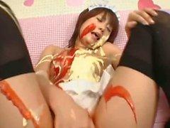Submissive maids fucking and masturbating