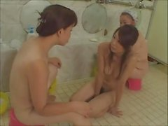 milf and young girl at baths