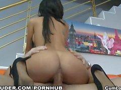 Horny latina gets her Pussy fucked