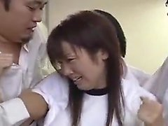 Pretty Asian teen gives a great blowjob and gets her pussy