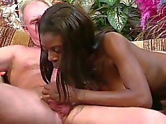 Black glamour girl gets old white meat