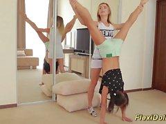 hot teen stretching a real flexidoll