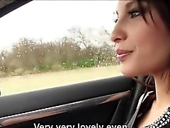 Stranded tattooed Frenchie Nikita Bellucci fucked in the car