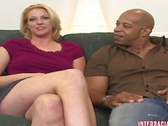 Cute Blonde Teen Katrina rides the Big Blackzilla Wave!!