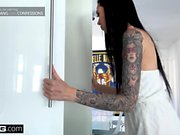 Marley Brinx gets fucked all over the kitchen counter