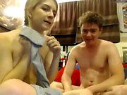 Busty blonde teen fucking doggystyle