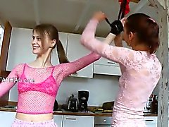 eighteen russian chicks playing with toys