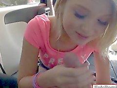 Small tits blond teen girl Dakota Skye throated and analyzed