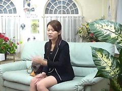 Amateur Asian teen shares her shaved pussy