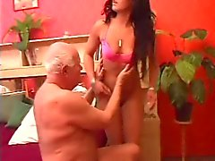 Old man gets his dick massaged
