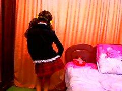 teen dance on webcamera