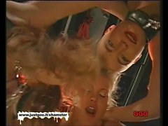 Chained teens getting fucked and cum covered - German Goo Gi