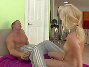 Teen blonde rubbed her pinkish pussy