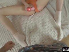 Katy uses toys before getting bonked