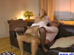 Young euro nurse fucks mature couple