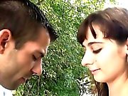 Sylvia gets anal fucked outdoor