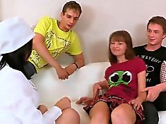 Lover assists with hymen physical and fucking of virgin teen
