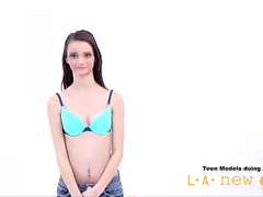 teen girl not happy at casting audition photoshoot