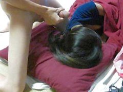 Asian girl sleeping so I stroke my cock for her, Cô gái ngủ