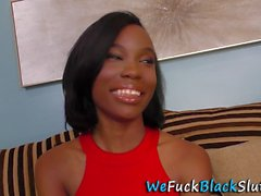 black whore gets facial teen