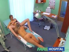 FakeHospital Naughty nurse gets her pussy licked by blonde bombshell