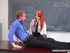 InnocentHigh - Sexy Redhead Fucks Teacher