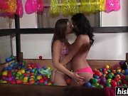 Two lesbians have some naked fun
