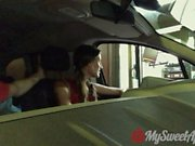 Drive Through Blowjob and Sex in the Parking Lot - MySweetApple