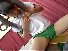 Horny japanese teen schoolgirl fresh pussy played hard