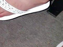 Minha irma mais nova chinelinho plataforma branco