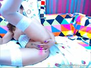 A Attractive Brunette Camgirl Is Having Fun By Herself