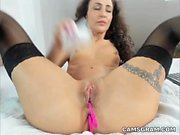 Flirtatious Cleanshaven Milf Uses Her New Sex Toy