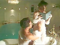 Japanese young girl sex in bath-room