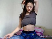 Hottest Amateur Emo 19yo Teen touching her pussy on Webcam