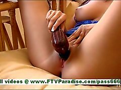 Patricia stunning brunete babe masturbating using a vibrator