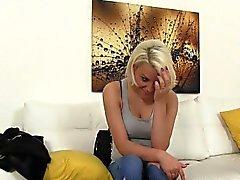 Blonde teen got facial on interview