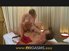 ORGASMS Erotic massage drives young girl wild