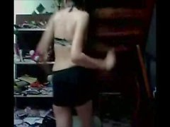 Thai teen dance in home