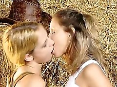 Lesbo fun of lovely teen sweethearts