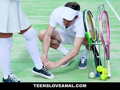 TeensLoveAnal - Hot Blonde Tennis Coach Gets Anal Fucked