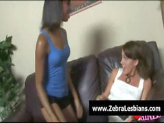 Zebra Lesbians - Sexy black lezbo babes fuck white teens 19