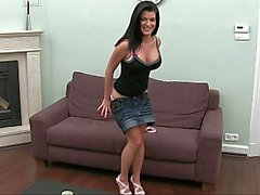 Casting well shaped Euro girl Steffany. Blowjob