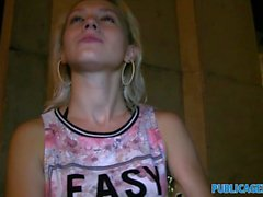 PublicAgent Sexy young babe takes his cum