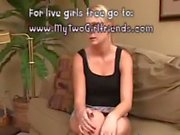 Solo on camera blond pussy with sexy legs
