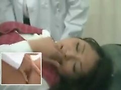 Desirable Japanese teen has her doctor fingering and toying
